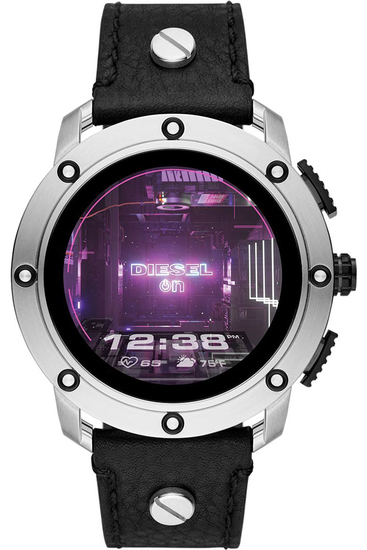 DIESEL Axial Smartwatch Black Leather DZT2014